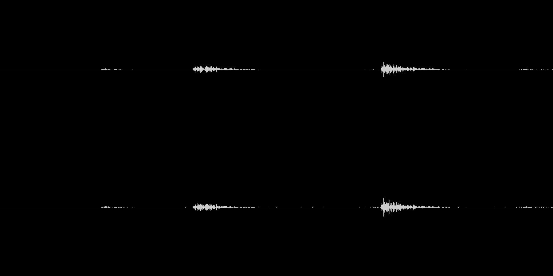 鍋から出る金属音ですの未再生の波形