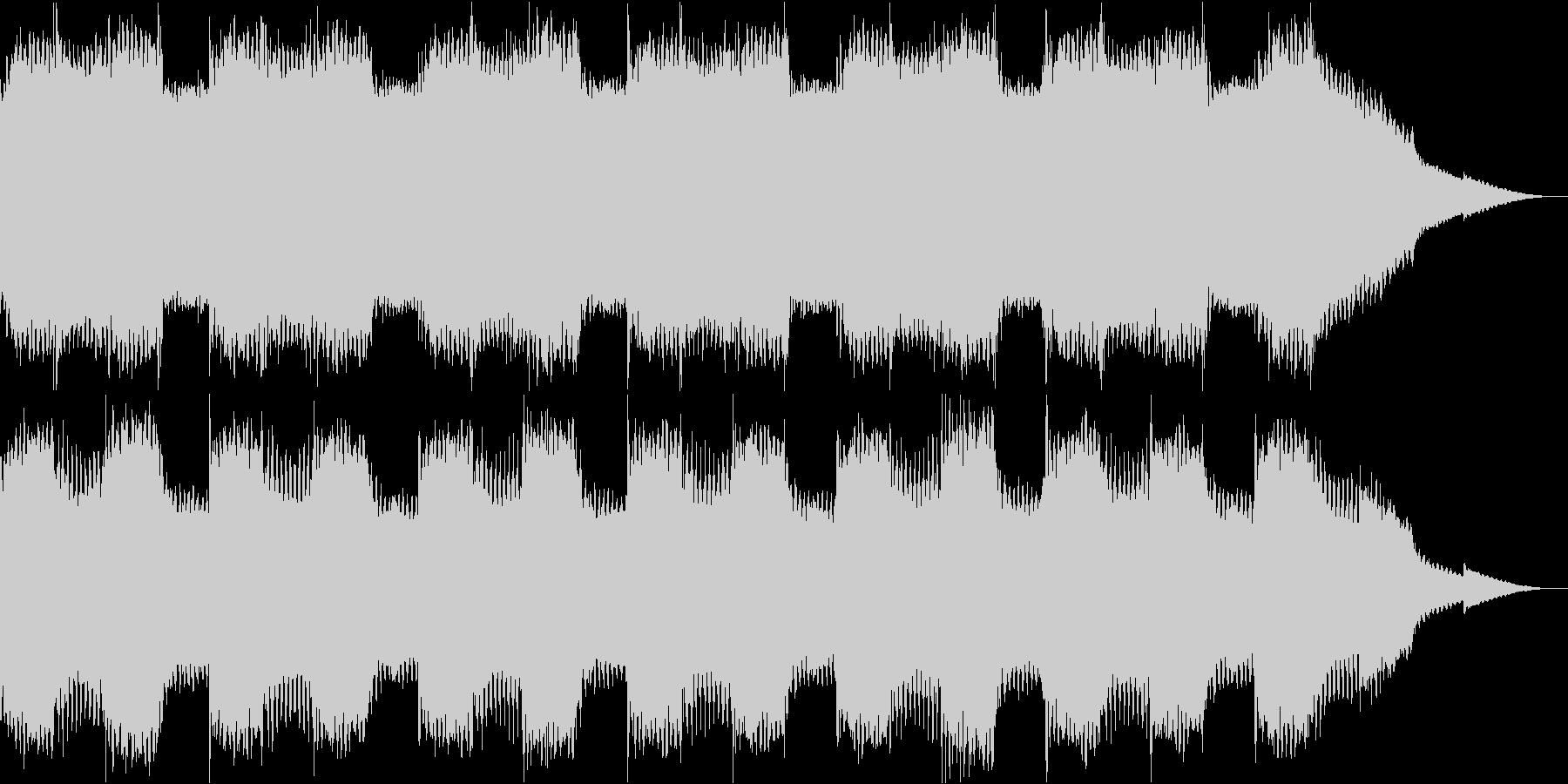 不気味なアンビエントホラー曲の未再生の波形