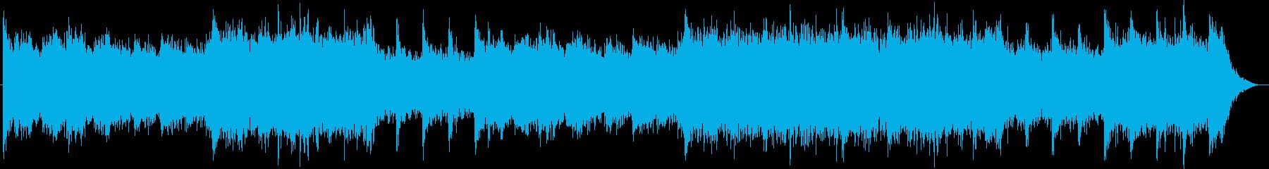 神秘的なシンセサイザーのミュージックの再生済みの波形