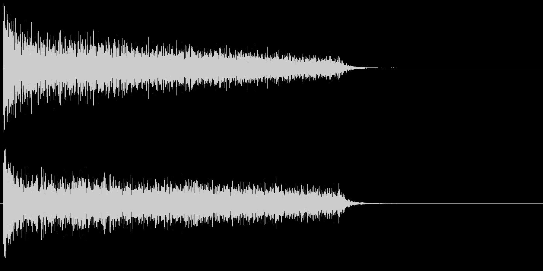 ガーン!ピアノ低音の不協和音の未再生の波形
