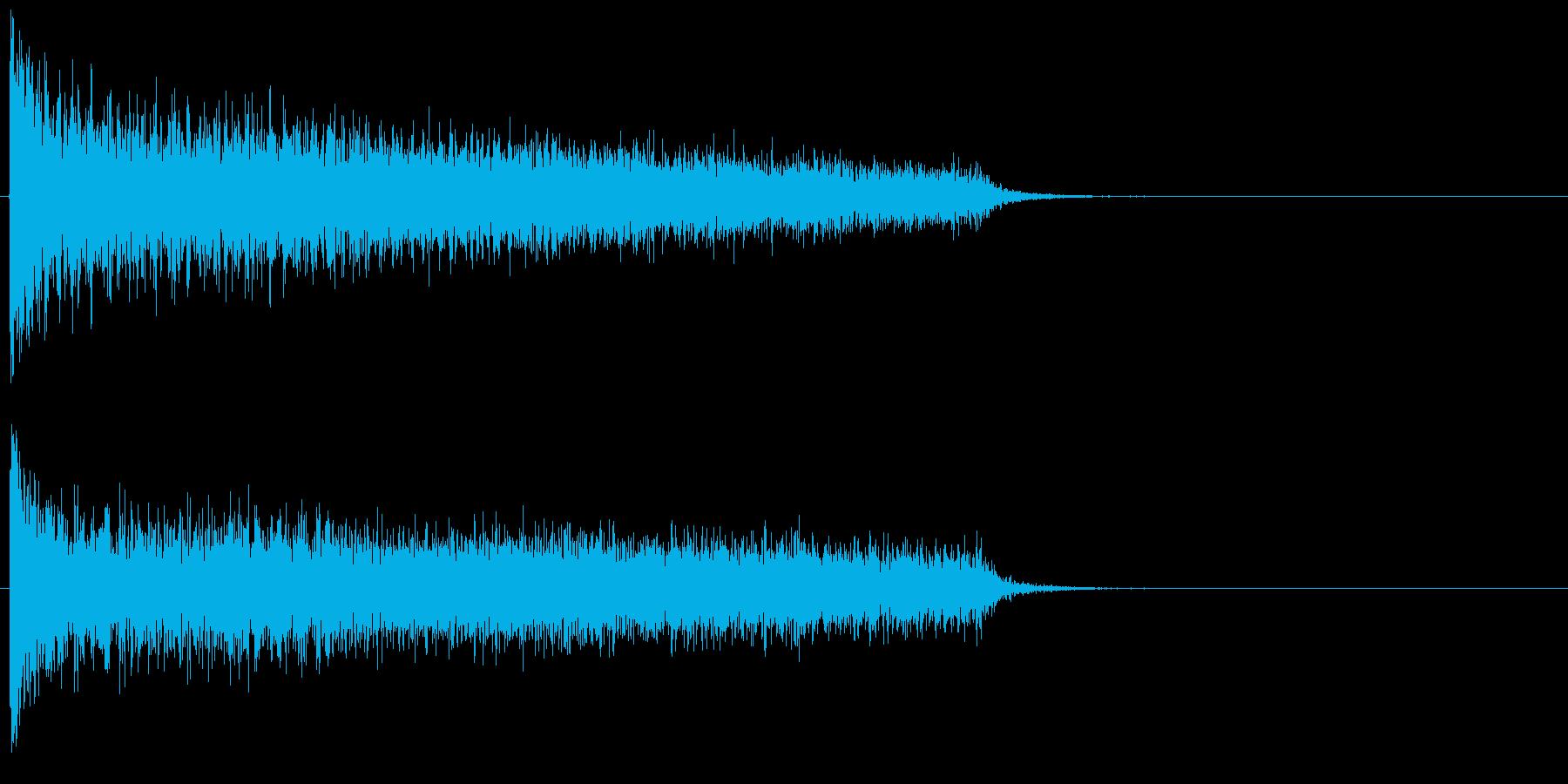 ガーン!ピアノ低音の不協和音の再生済みの波形