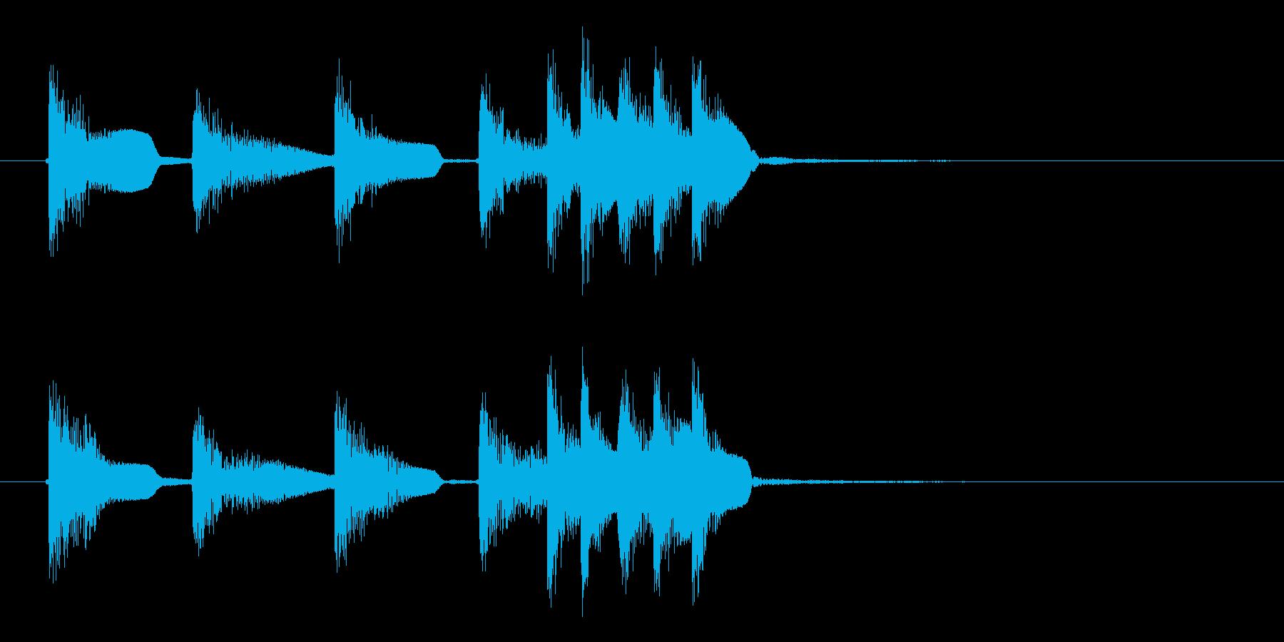 カンコン!カンコン!金属音の再生済みの波形