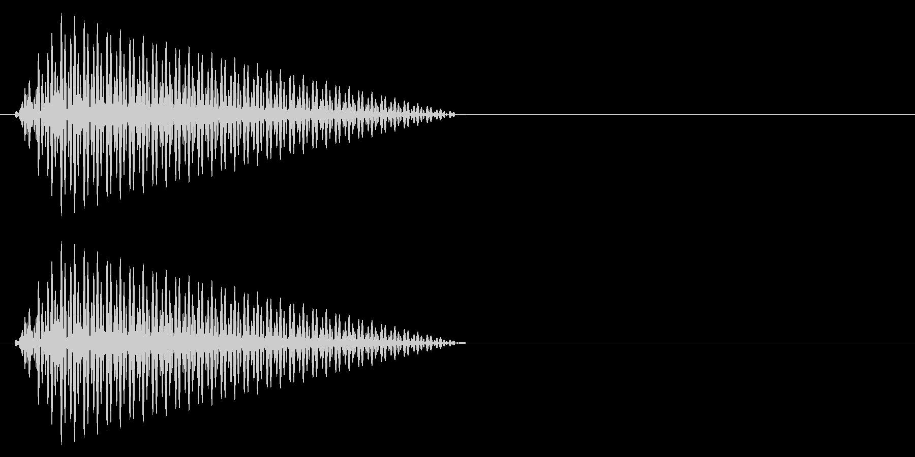 カーソル移動音1の未再生の波形
