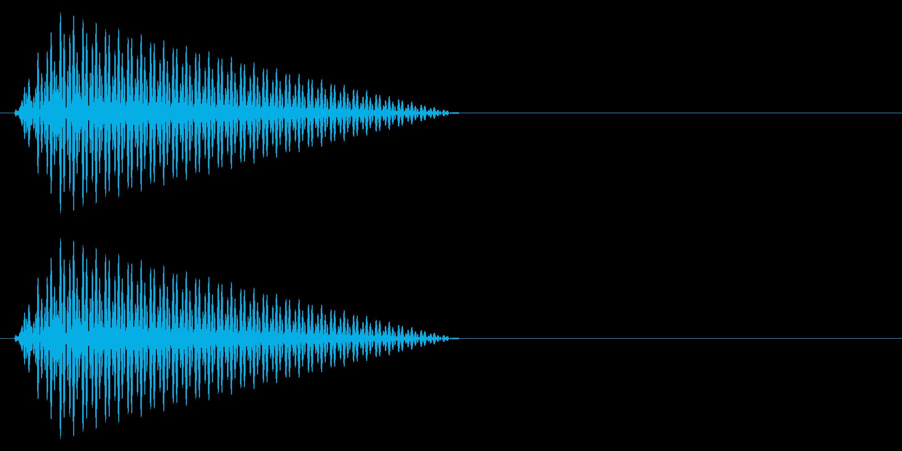 カーソル移動音1の再生済みの波形