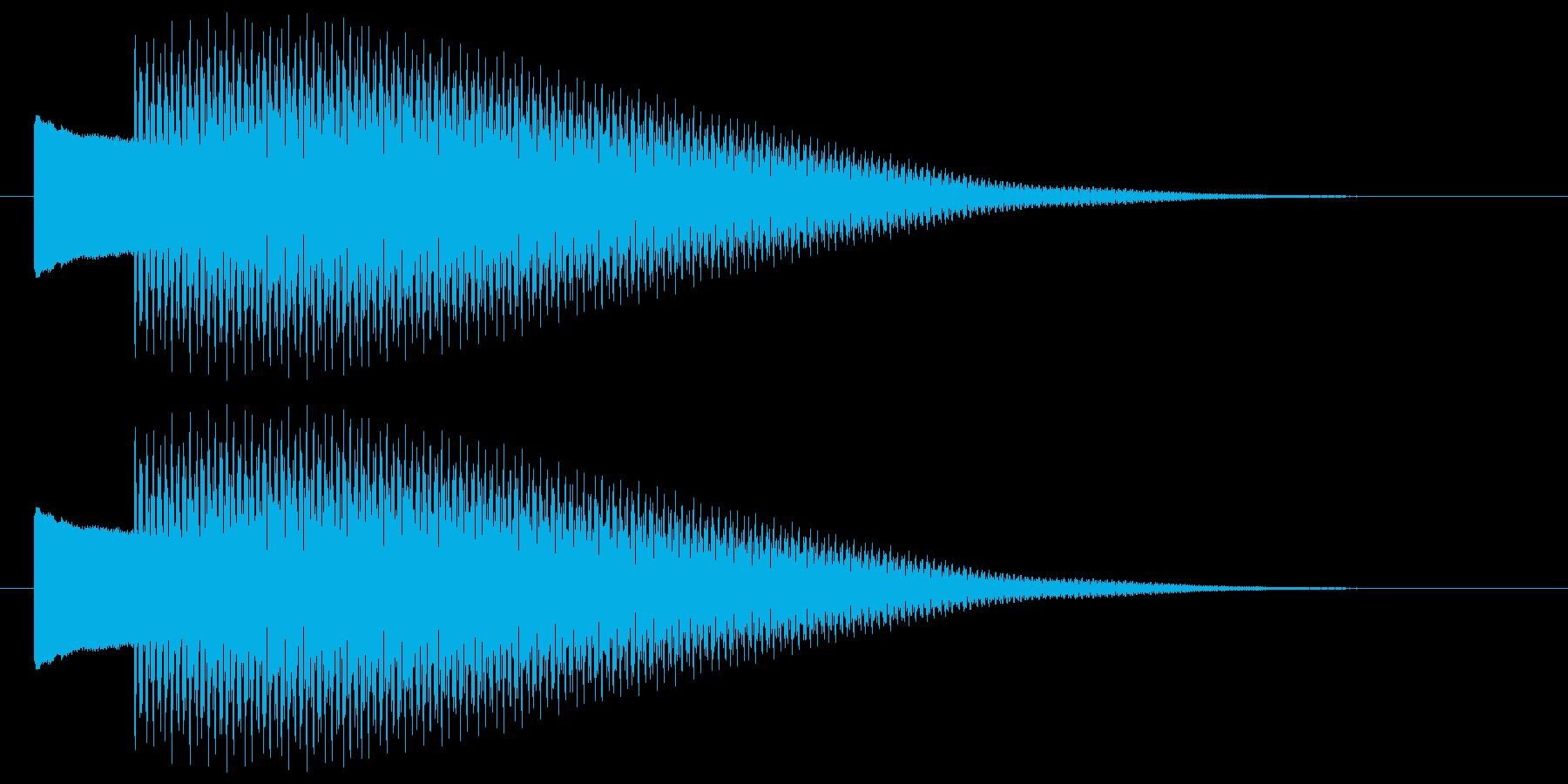 ピコーン 決定 選択 開始 セレクト音の再生済みの波形