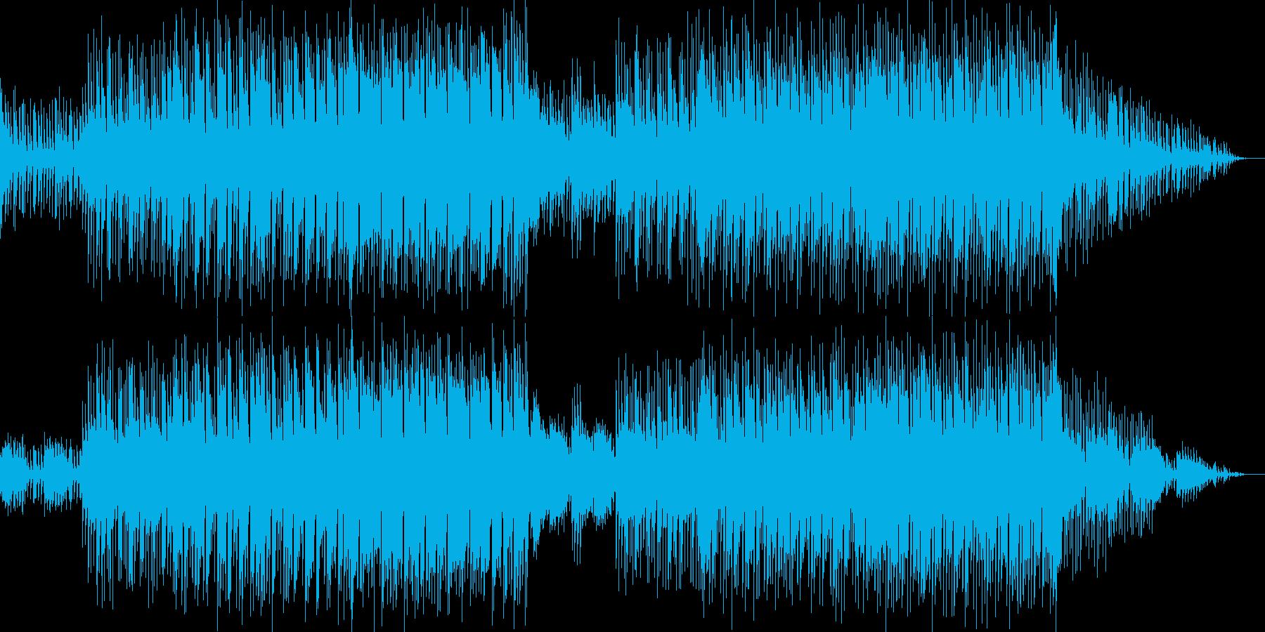 中近東っぽいリフと切ないメロディの曲の再生済みの波形