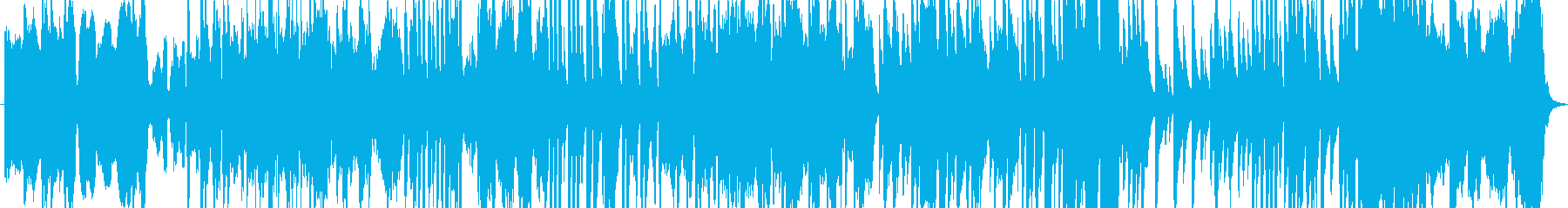 穏やかでゆるやかに流れる時間を表現した曲の再生済みの波形