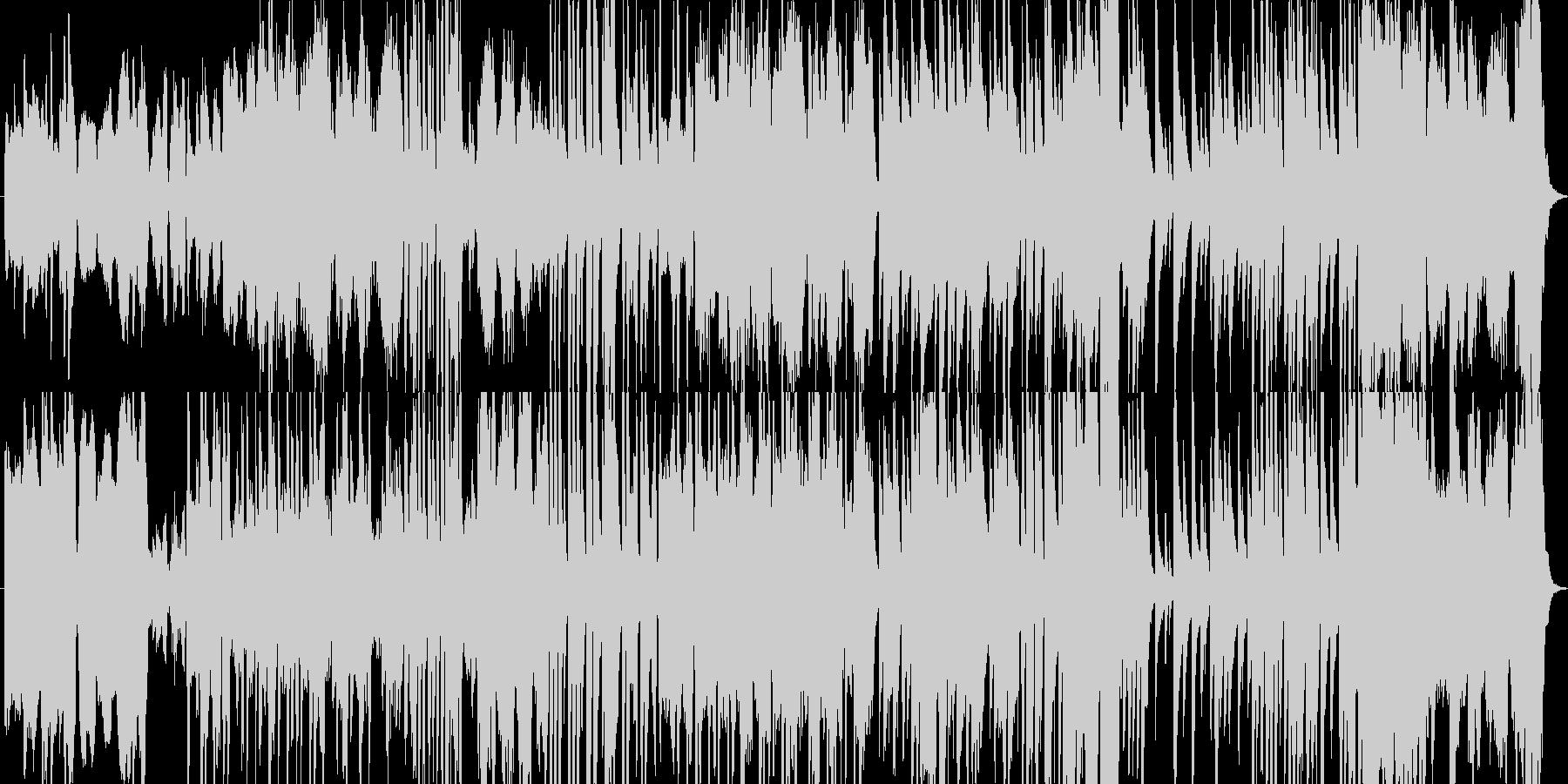 穏やかでゆるやかに流れる時間を表現した曲の未再生の波形