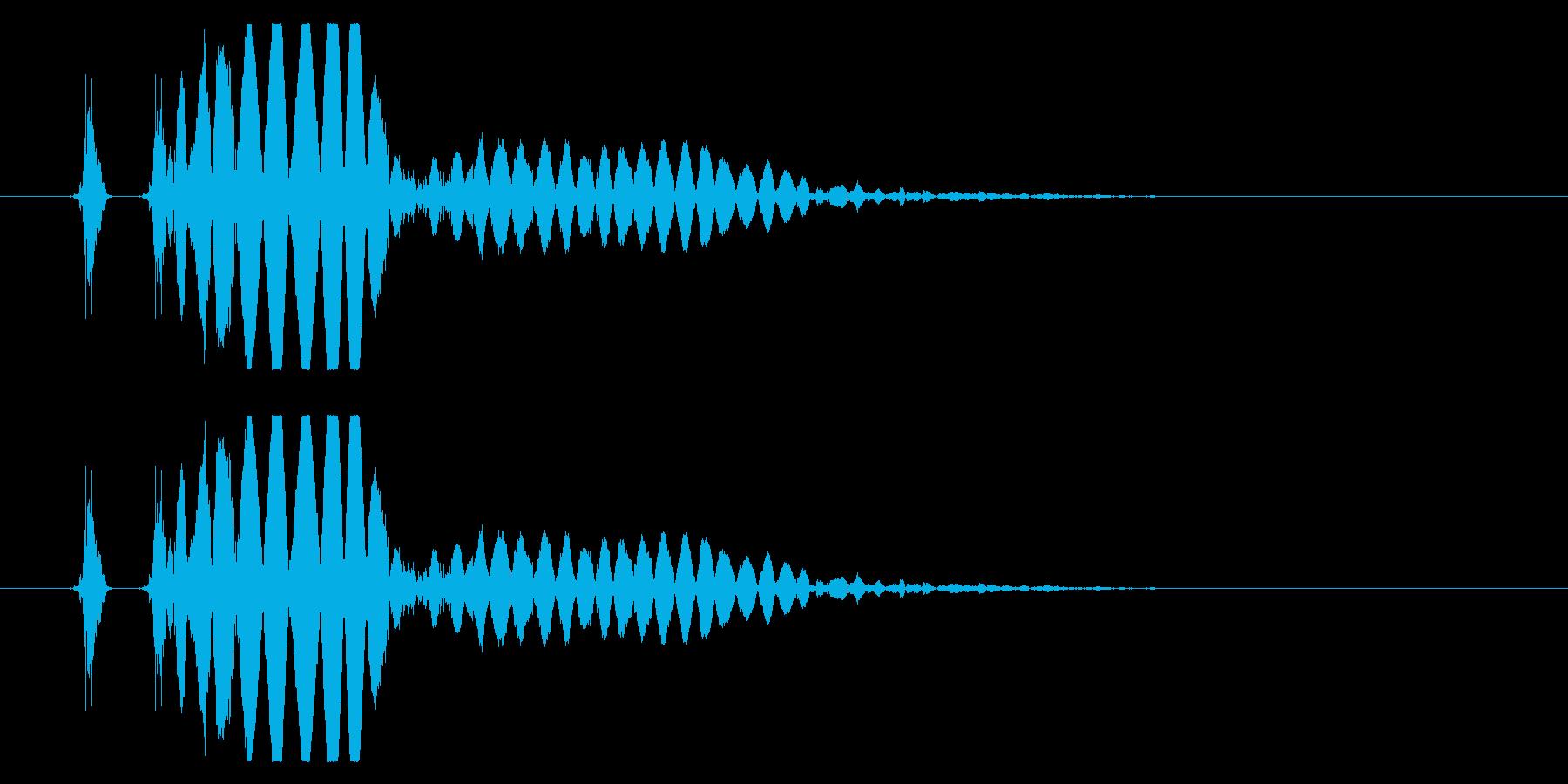 【打撃音24】パンチやキックに最適です!の再生済みの波形