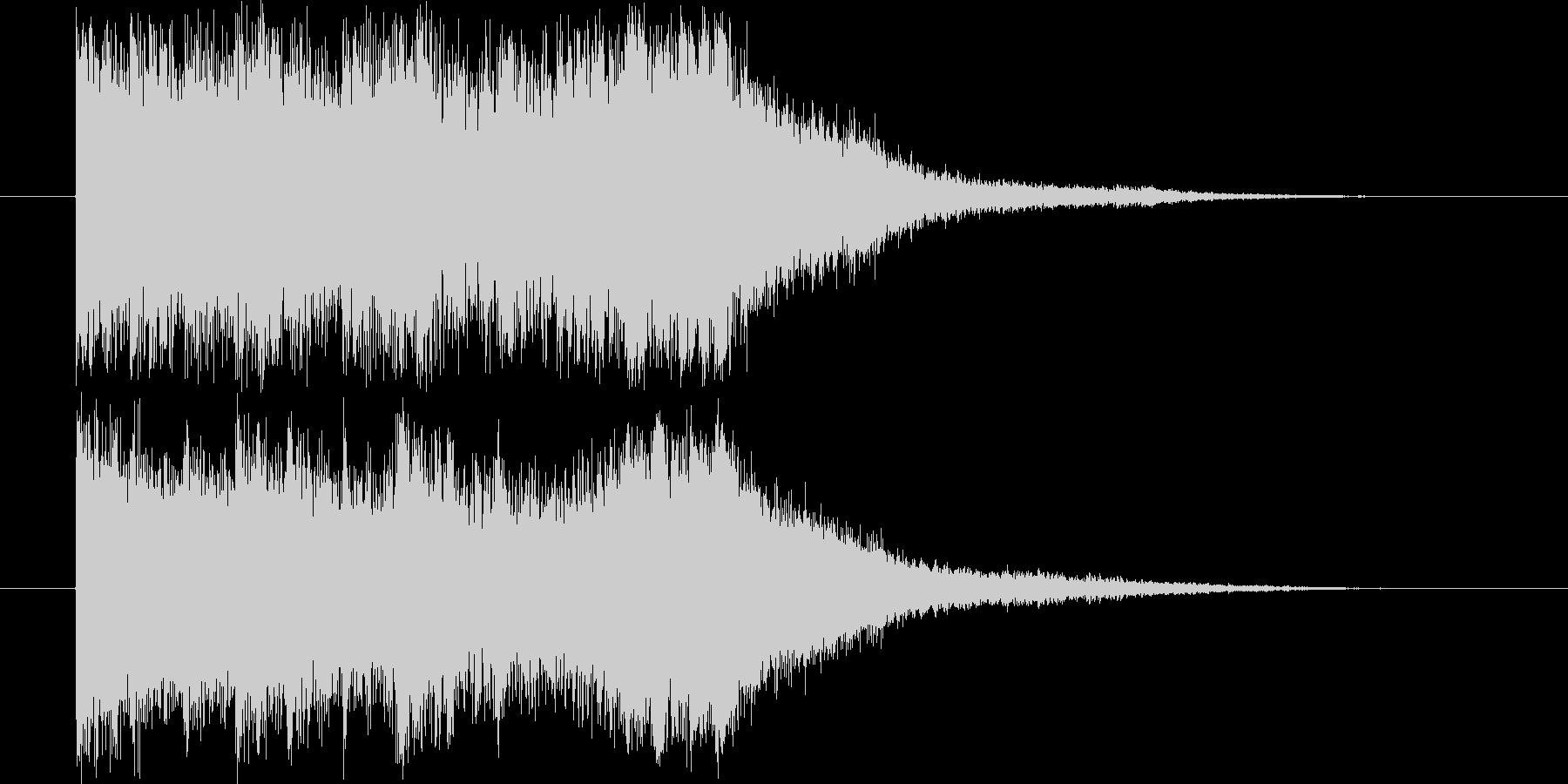和楽器とオーケストラによる和風な効果音の未再生の波形