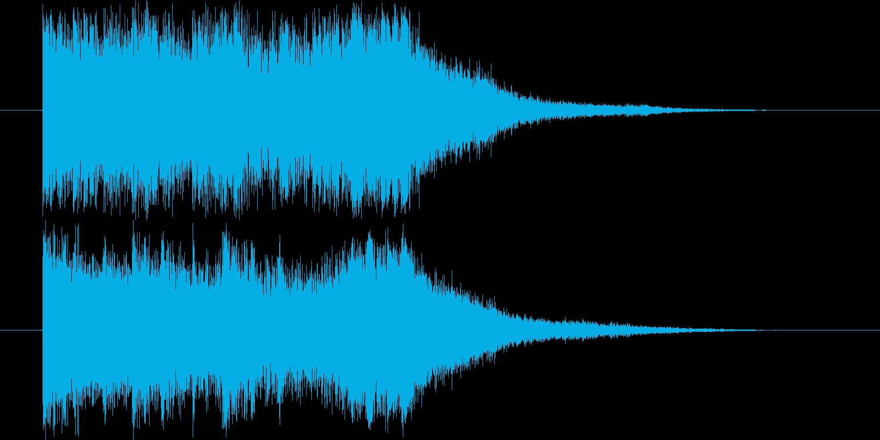 和楽器とオーケストラによる和風な効果音の再生済みの波形