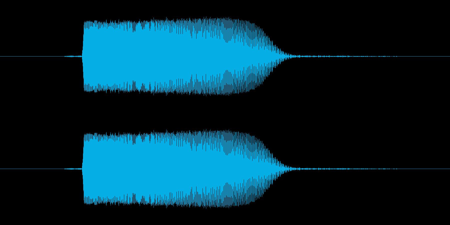 キュッ(キャンセル,電子音)の再生済みの波形
