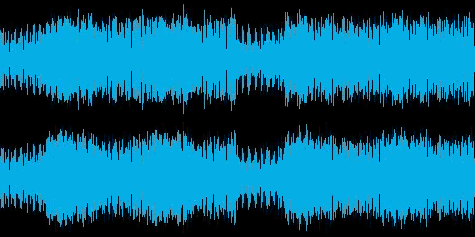 ループ素材 スタイリッシュジャズビートの再生済みの波形