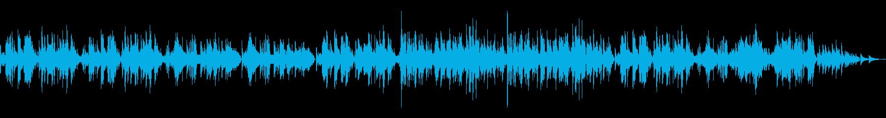 穏やかなピアノソナタです。の再生済みの波形
