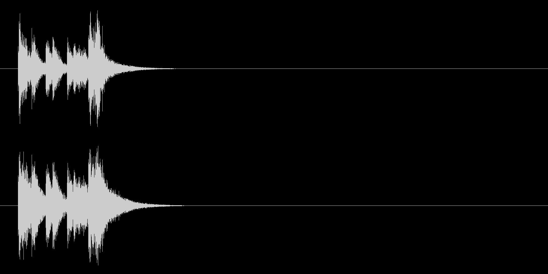 キュー・アタック系ジングルの未再生の波形