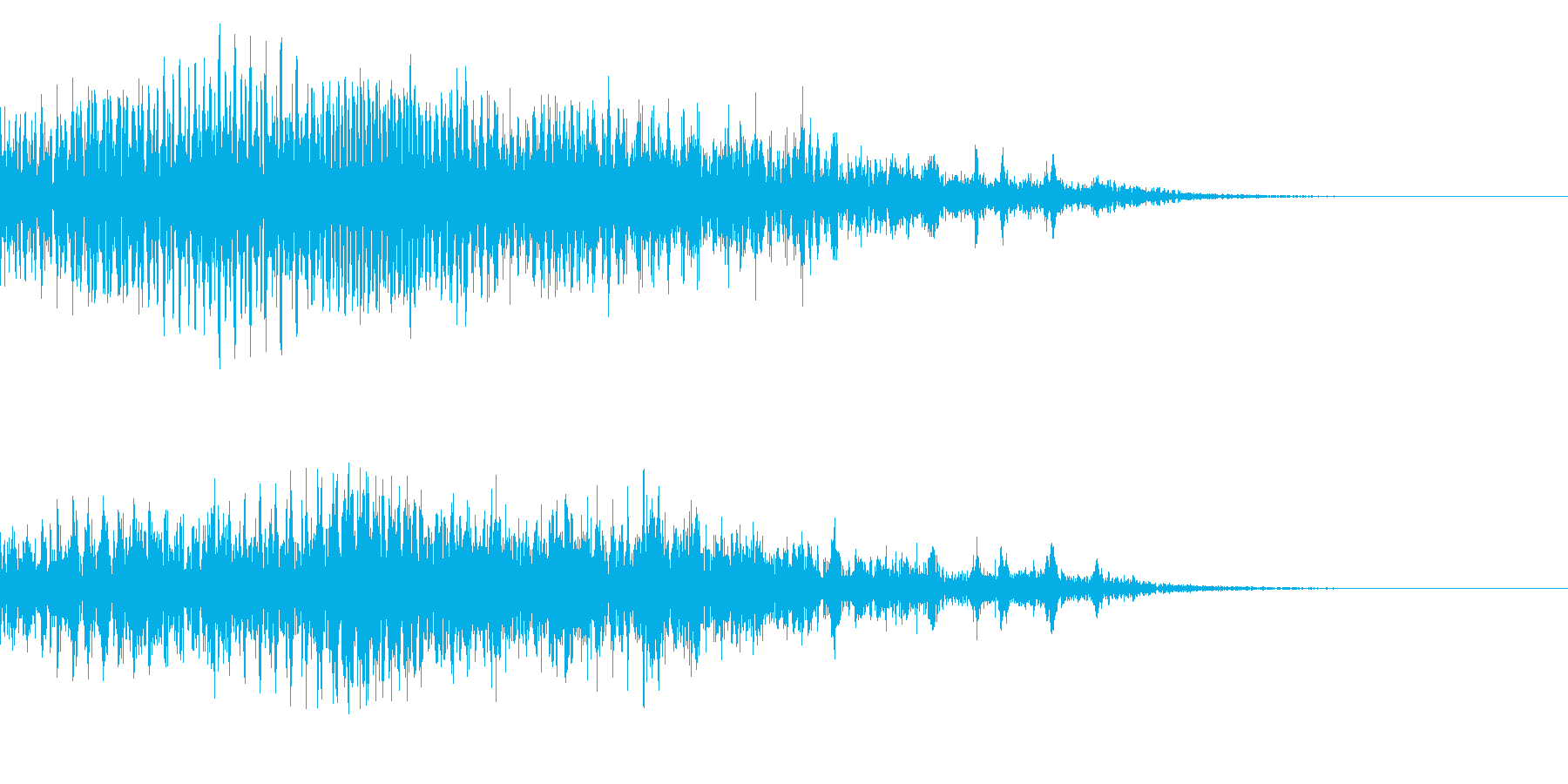 メニュー画面音(ウインドウ,決定等)17の再生済みの波形
