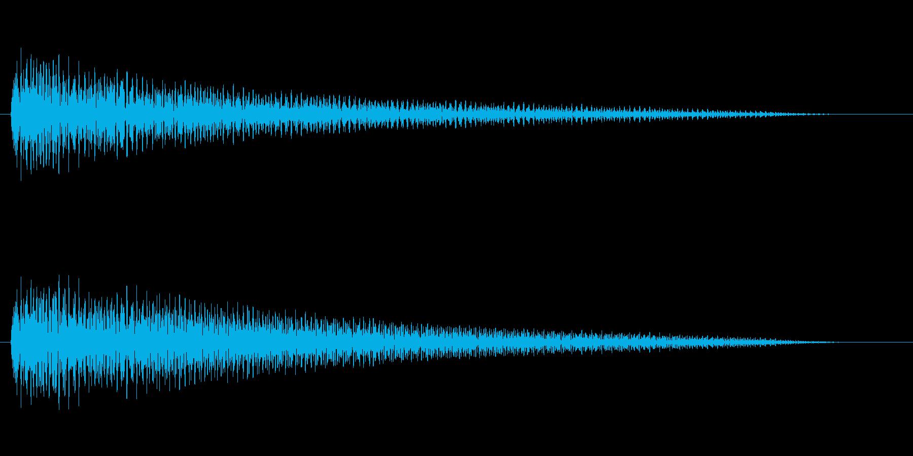 よくあるチャイム音風(オルゴール)2の再生済みの波形