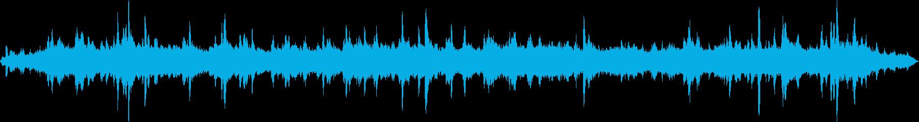 水面や滴の様子を電子音で表現していますの再生済みの波形