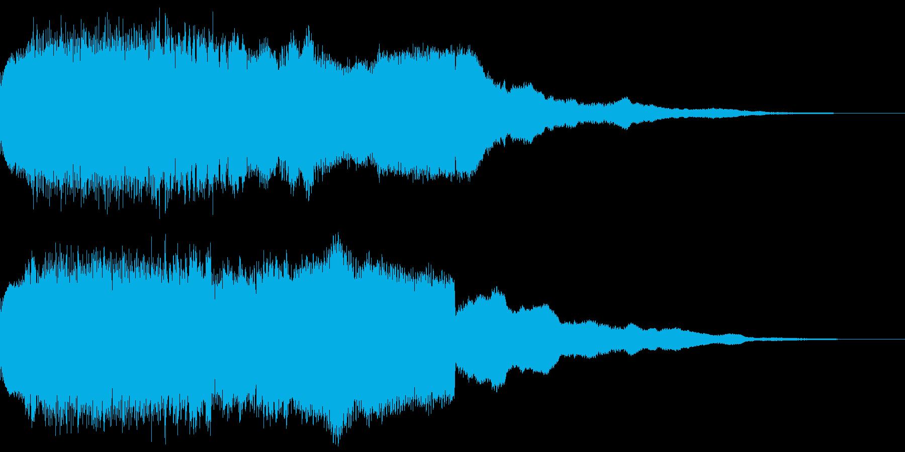 キュイン キュイーン ビーム キーン 1の再生済みの波形