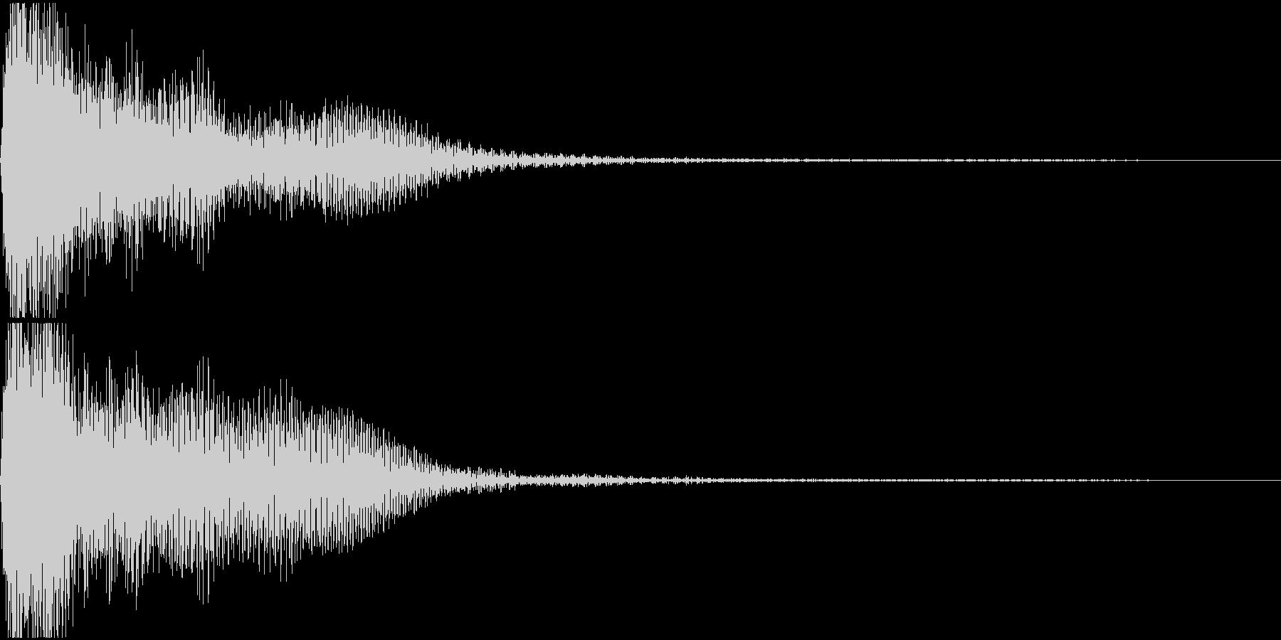 ド♯/レ♭単音のオーケストラルヒットの未再生の波形
