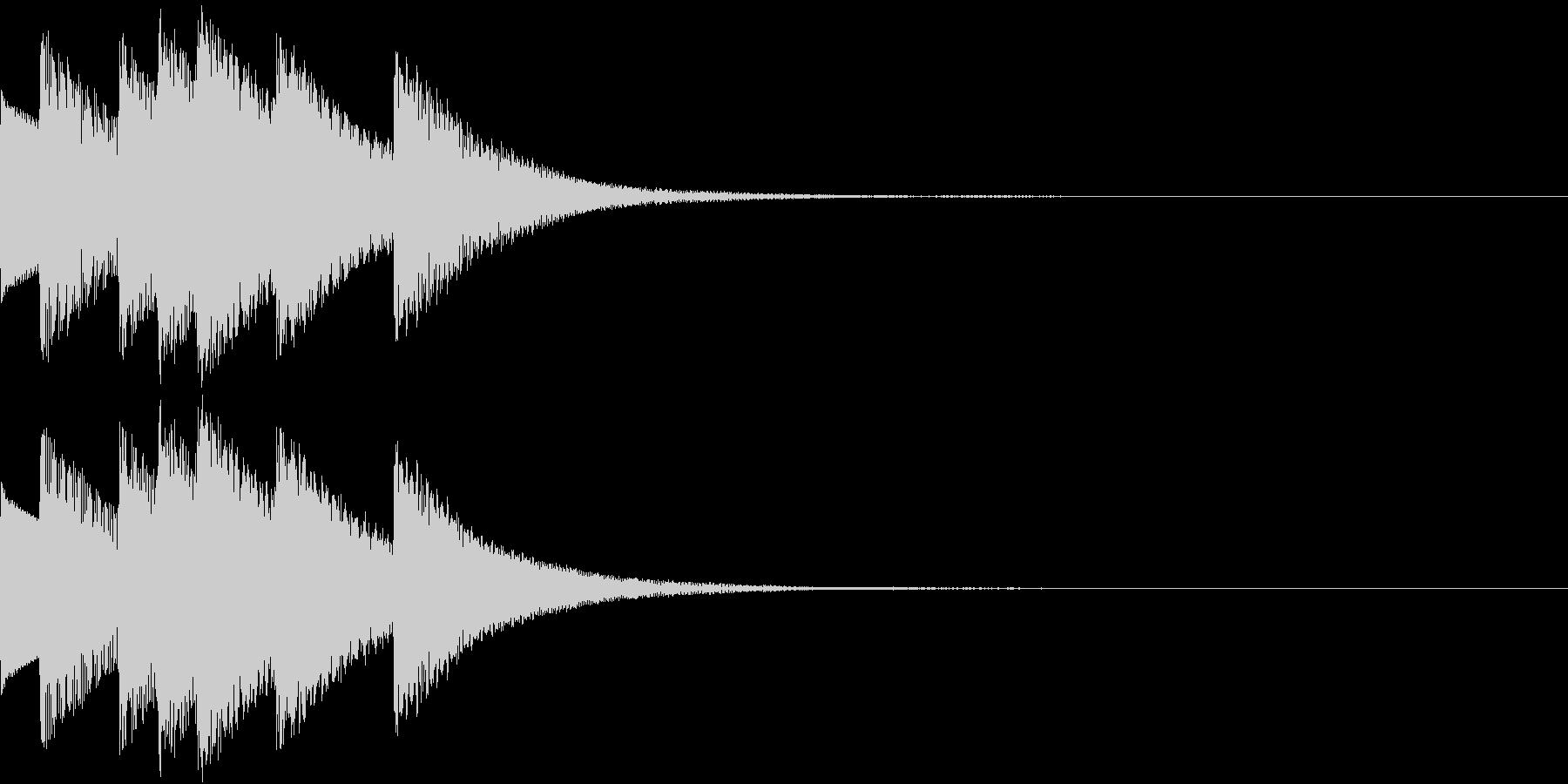 Game ダンジョン 魔法のハープの音の未再生の波形