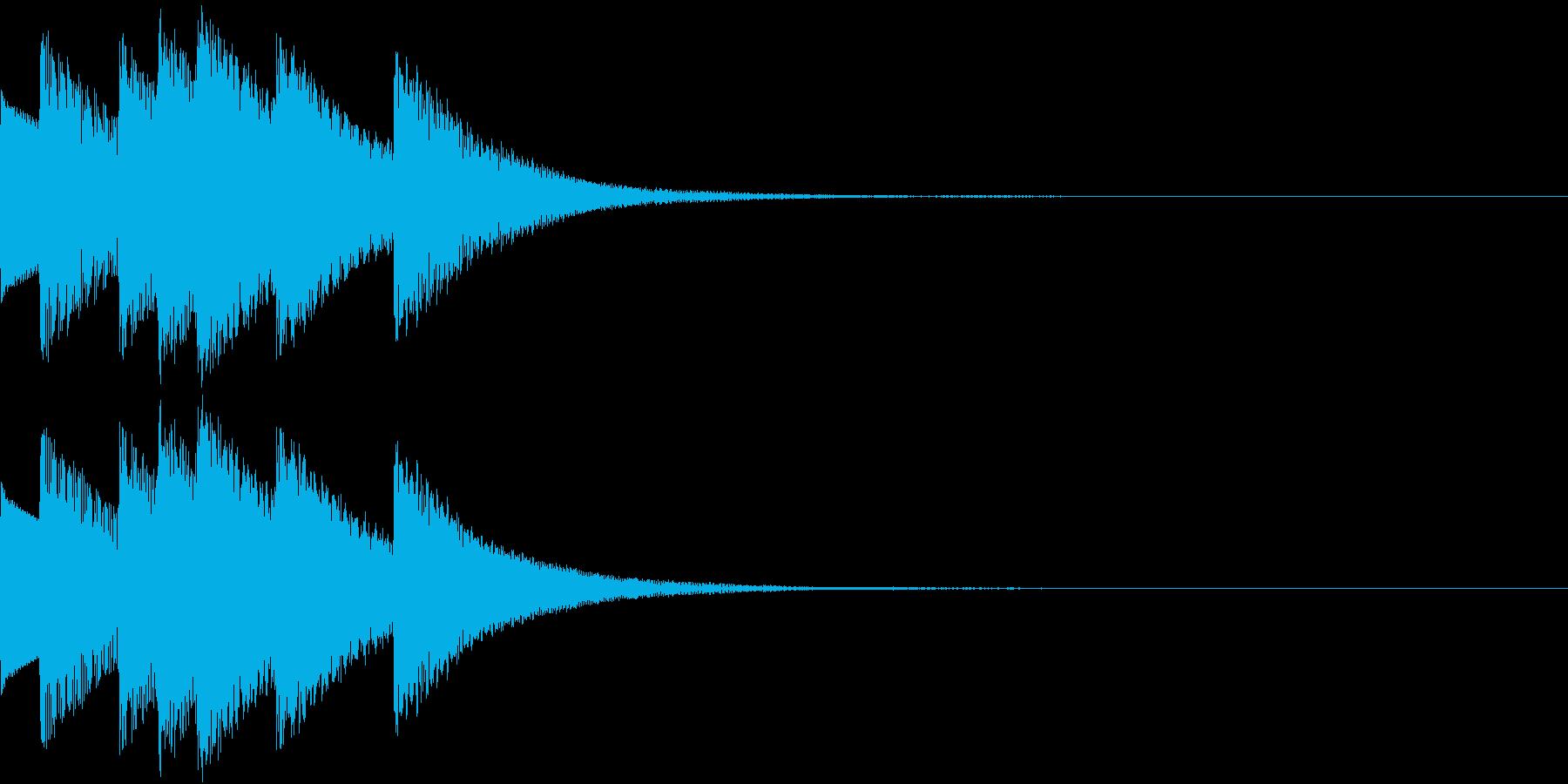 Game ダンジョン 魔法のハープの音の再生済みの波形