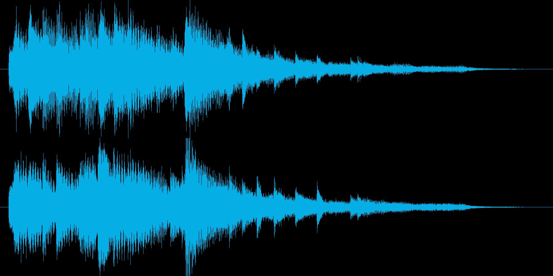 【ジングル】きれい系ピアノジングルの再生済みの波形