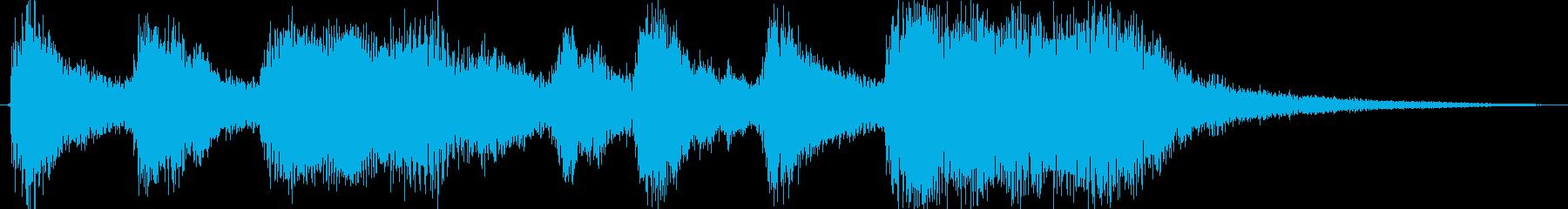 クラシックなイベント達成音ジングル3の再生済みの波形