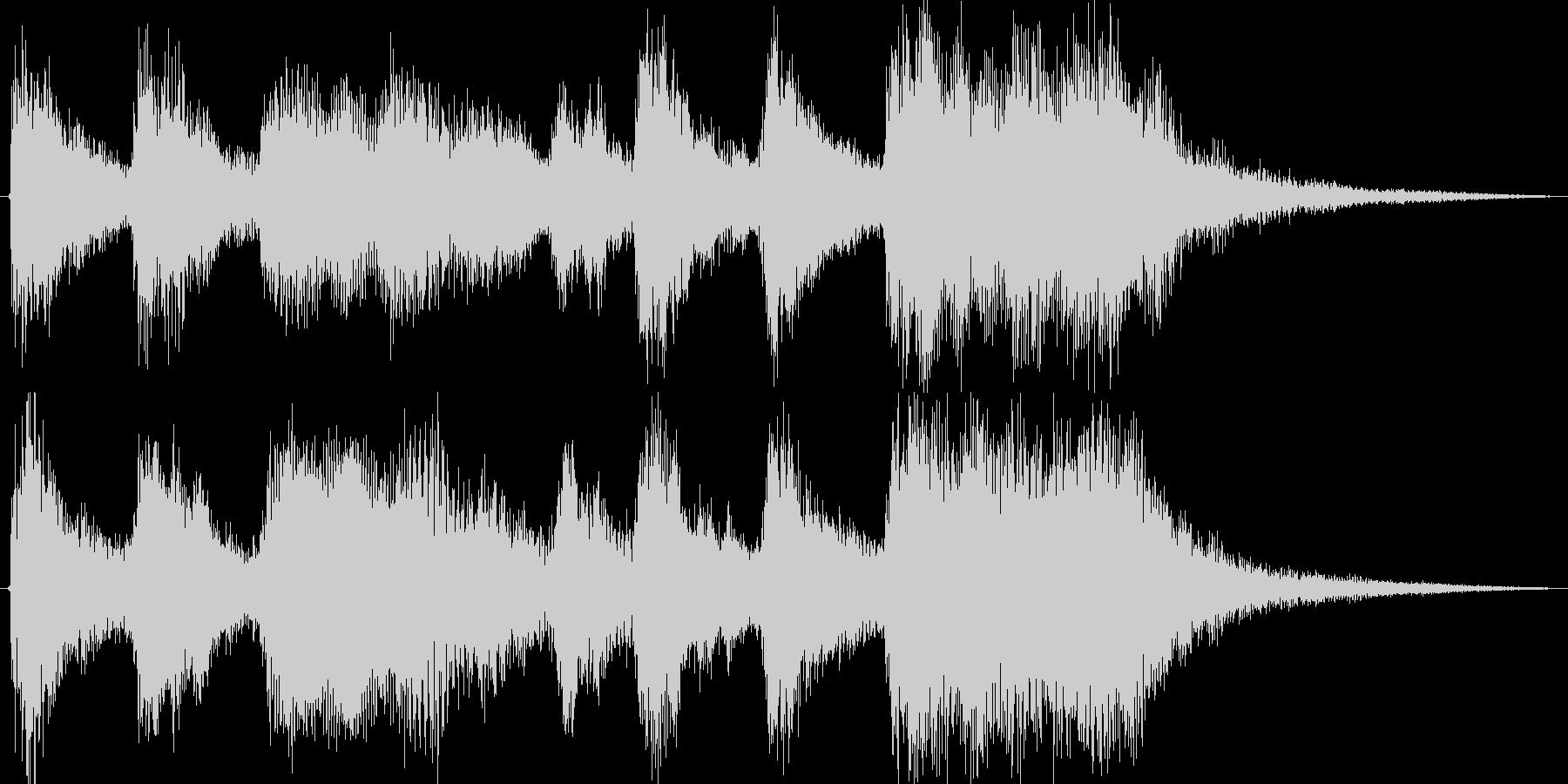 クラシックなイベント達成音ジングル3の未再生の波形