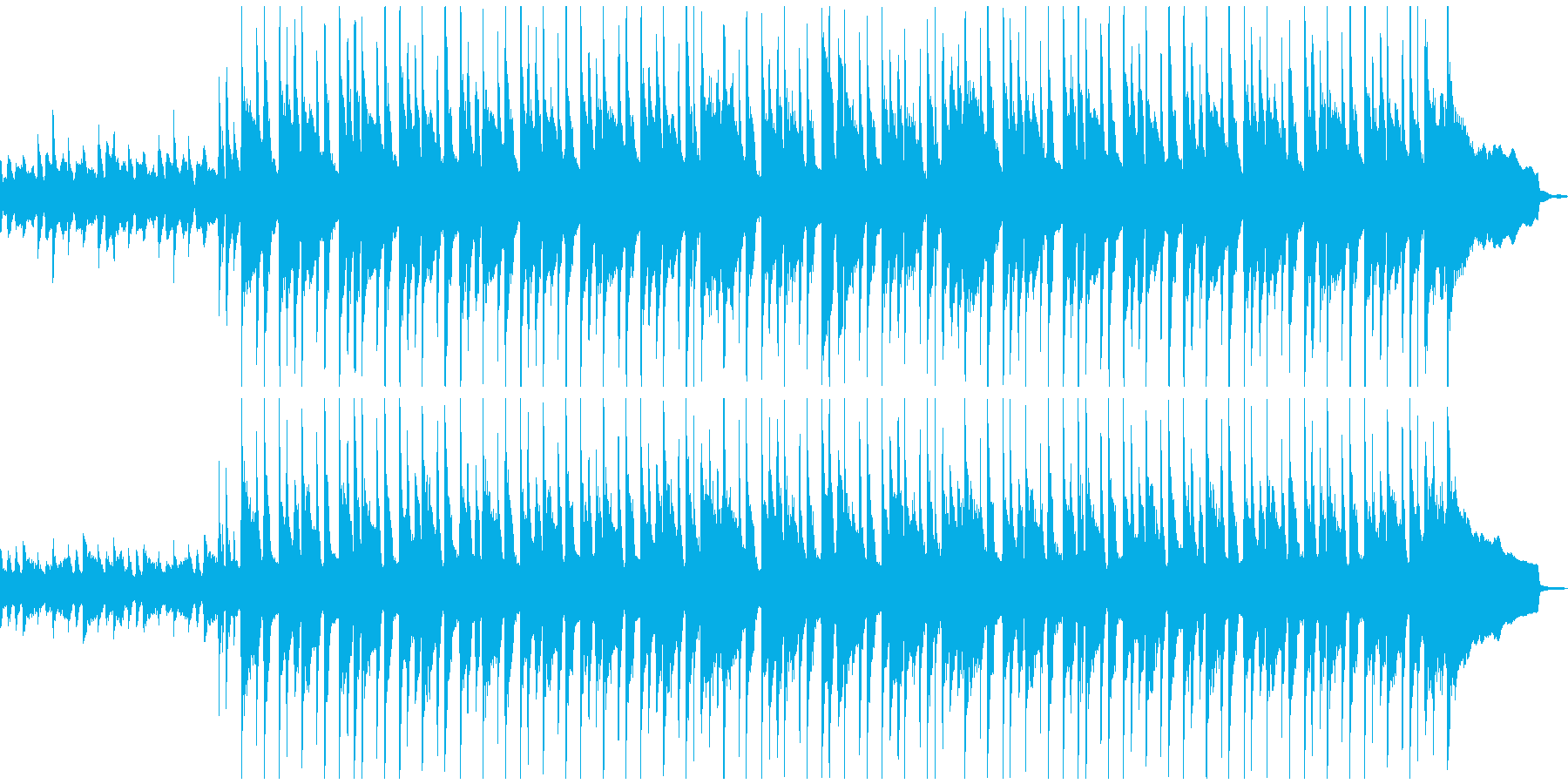穏やかでのほほんとしたBGMの再生済みの波形