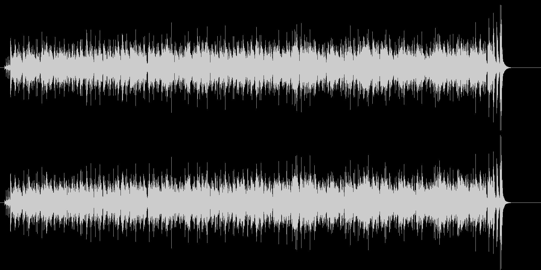 トロピカルなカリプソ調の未再生の波形
