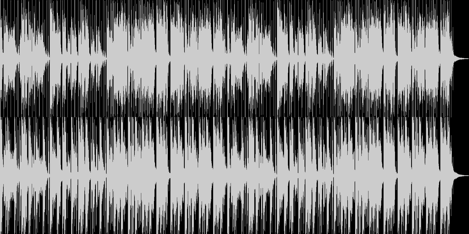 ほのぼのした民族音楽風のBGMの未再生の波形