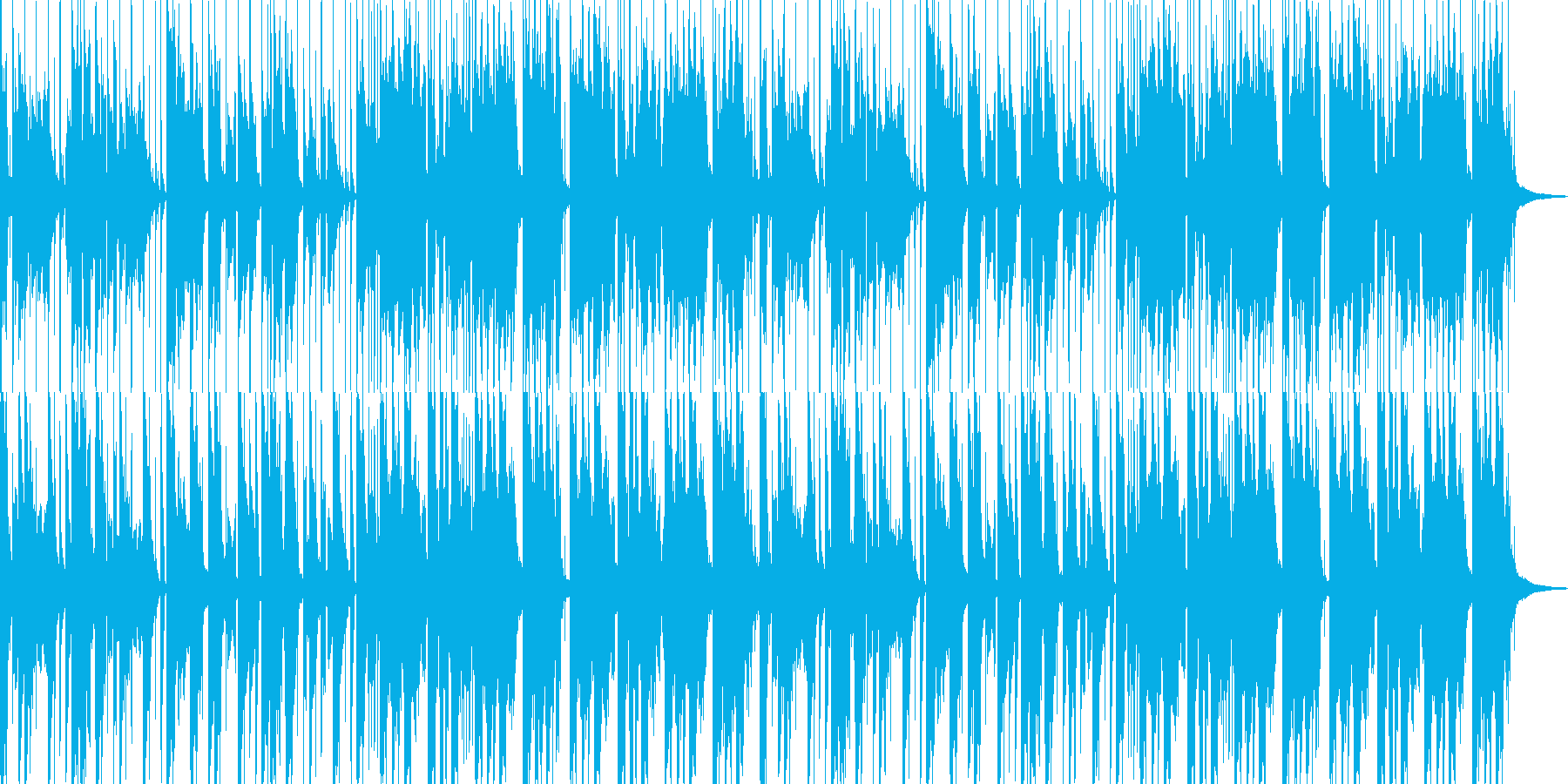 ほのぼのした民族音楽風のBGMの再生済みの波形