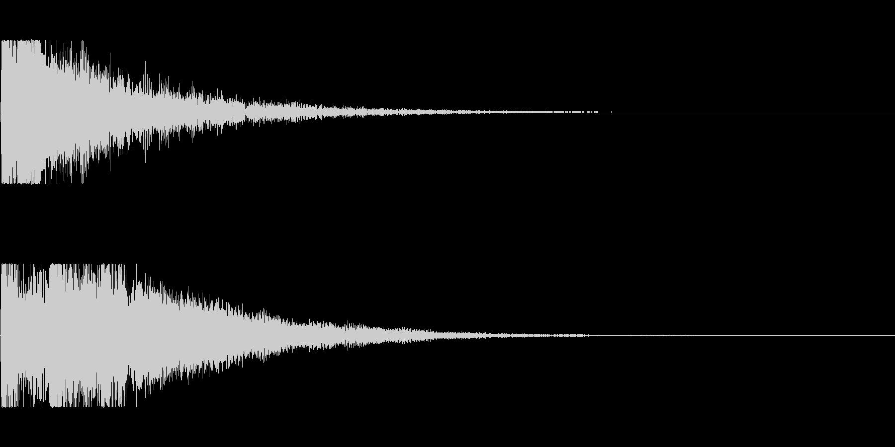 決定、選択の音の未再生の波形
