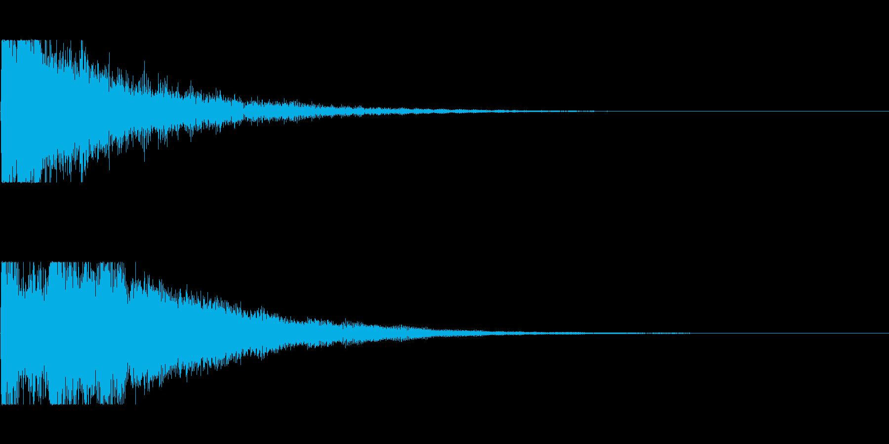 決定、選択の音の再生済みの波形