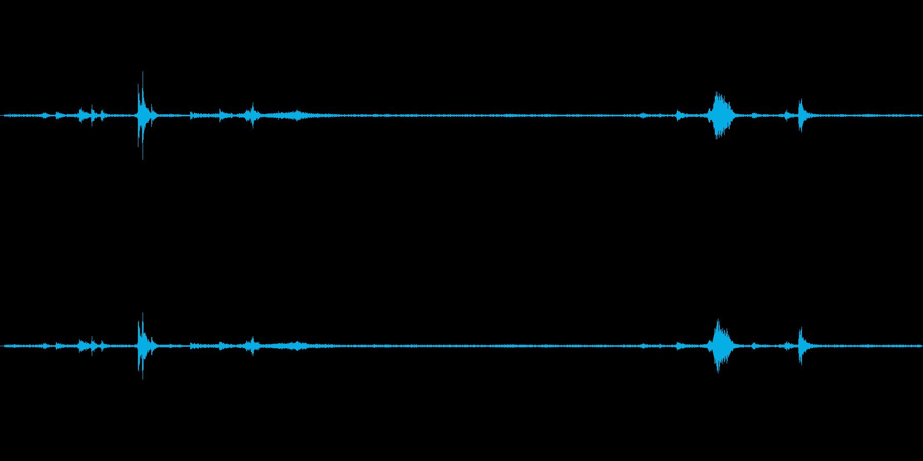 ラップをかける音ですの再生済みの波形