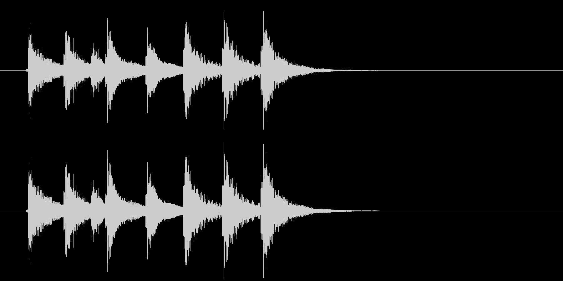 金属/ガラス系打楽器ジングルの未再生の波形
