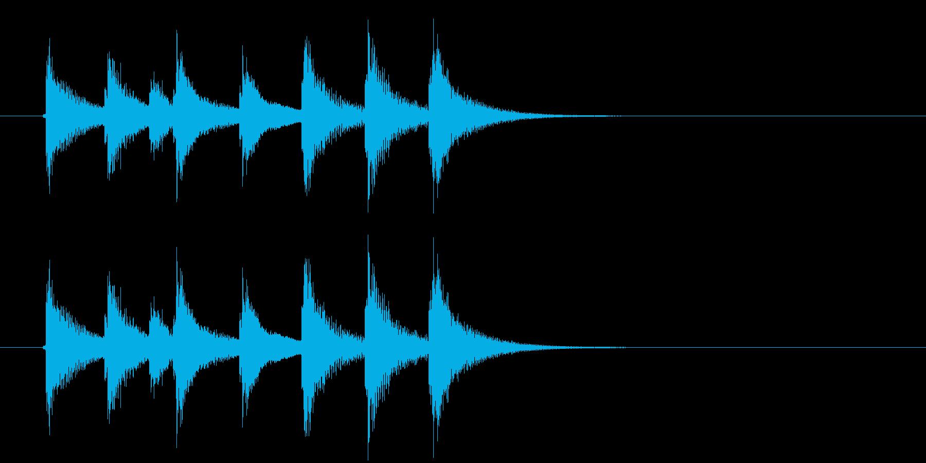 金属/ガラス系打楽器ジングルの再生済みの波形