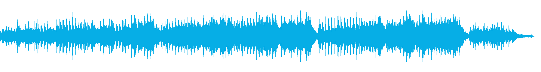 可憐で優しいクラシカルなピアノバラードの再生済みの波形