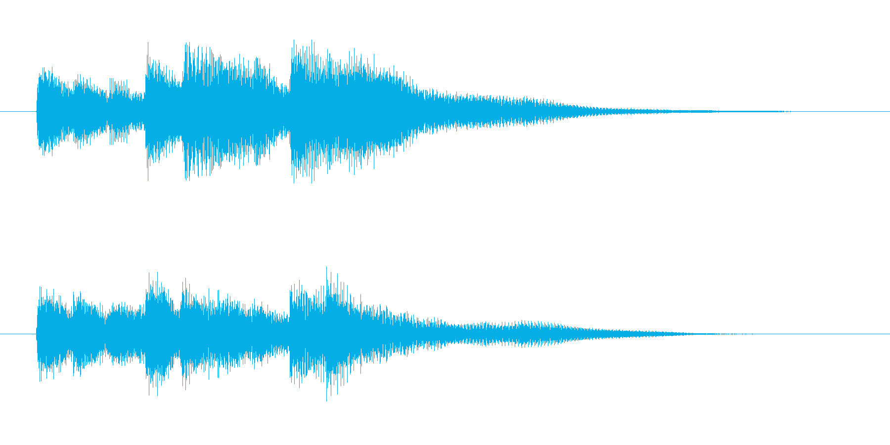 ピアノジングルです。の再生済みの波形