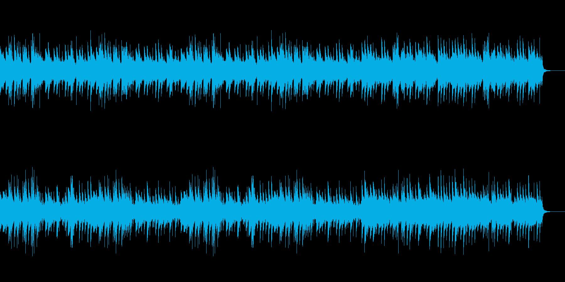 ゆったりとしたピアノの落ち着いたBGMの再生済みの波形