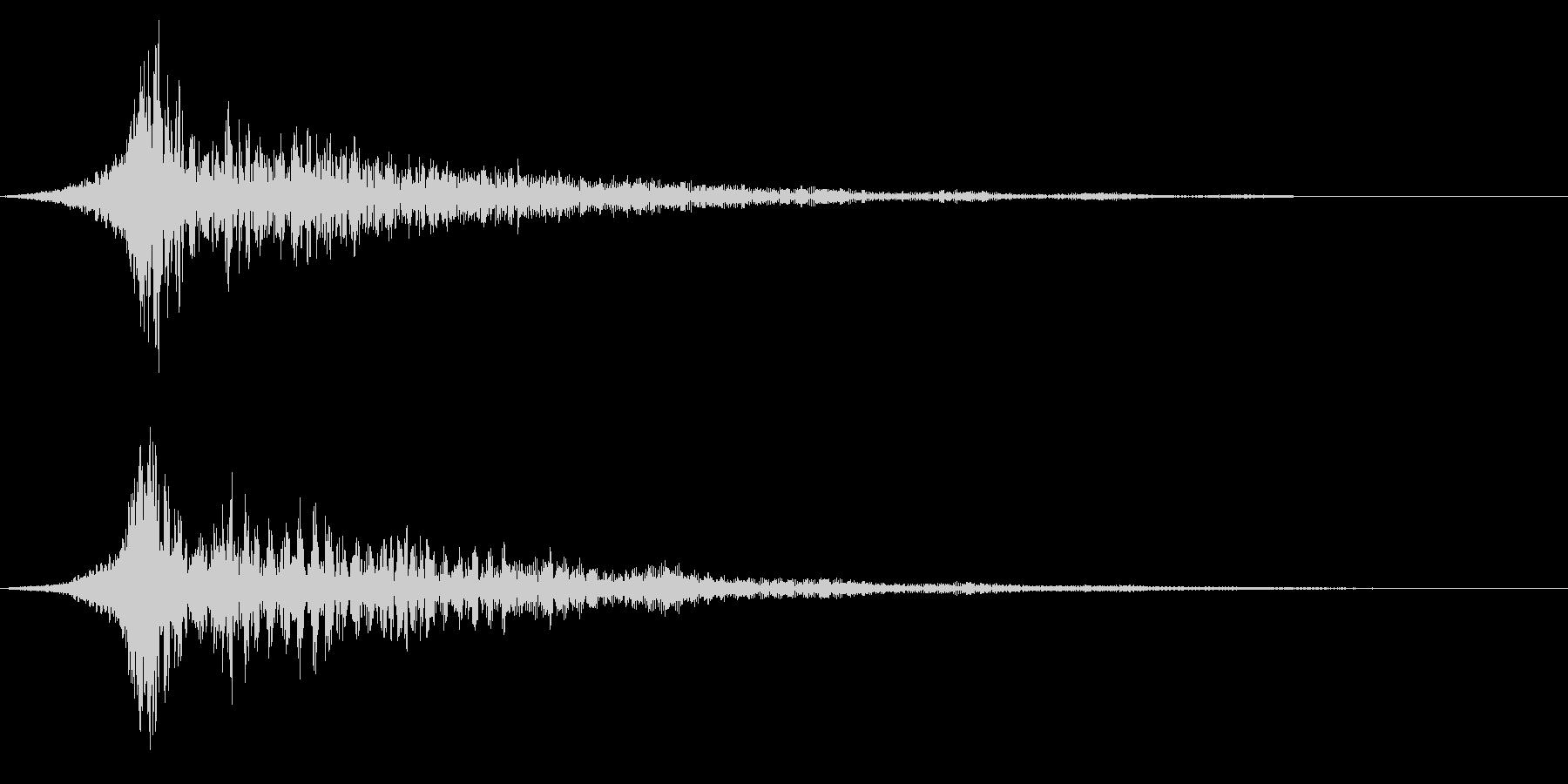 ホラー系アタック音76の未再生の波形