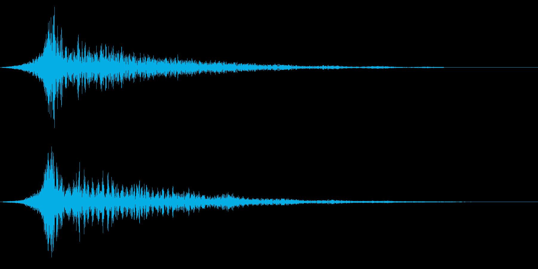 ホラー系アタック音76の再生済みの波形