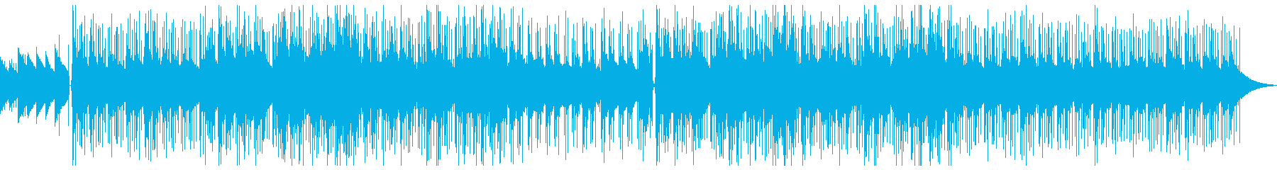 穏やかなシティポップ風BGMの再生済みの波形