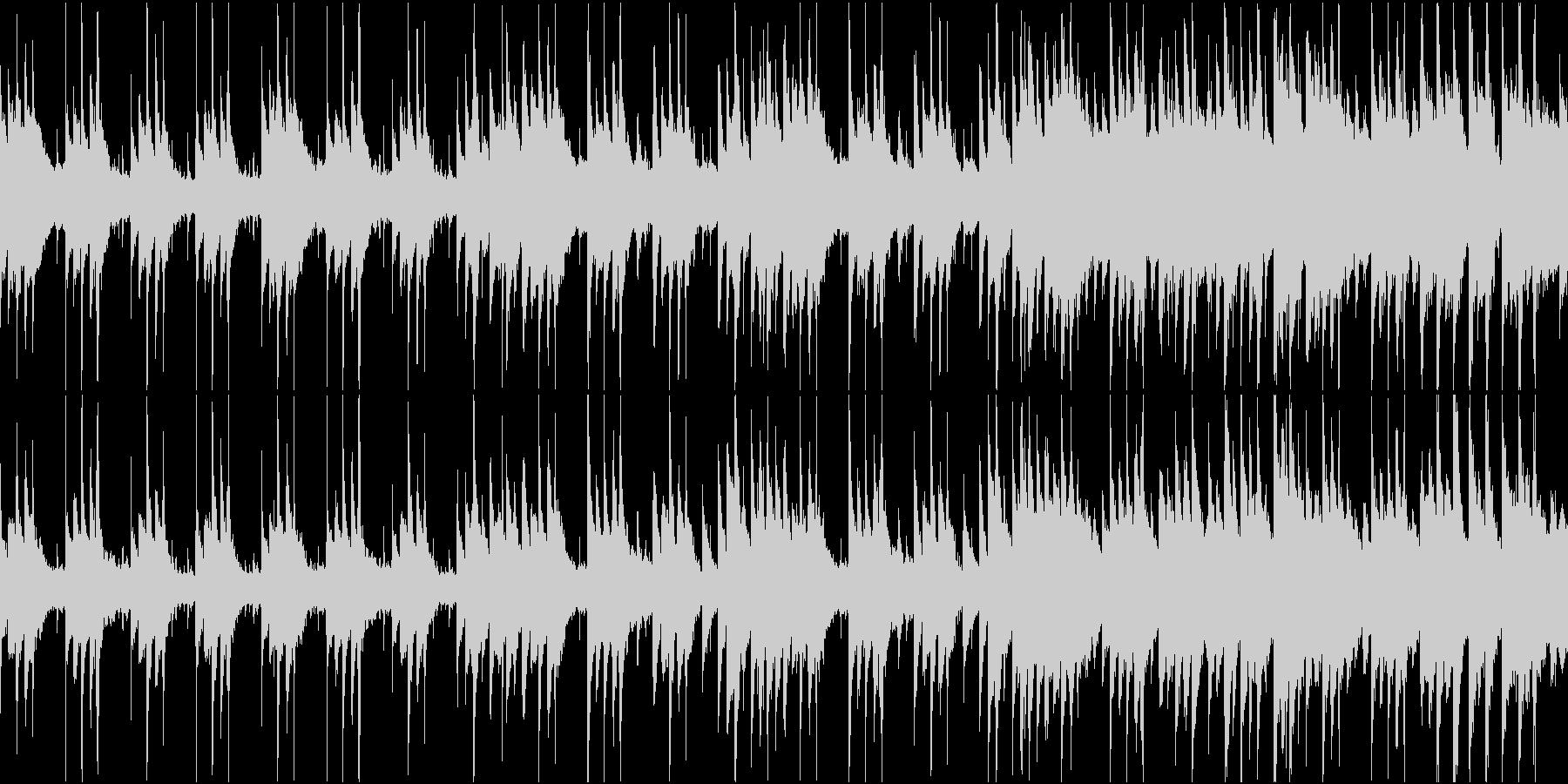 和を感じる幻想的なピアノBGMの未再生の波形