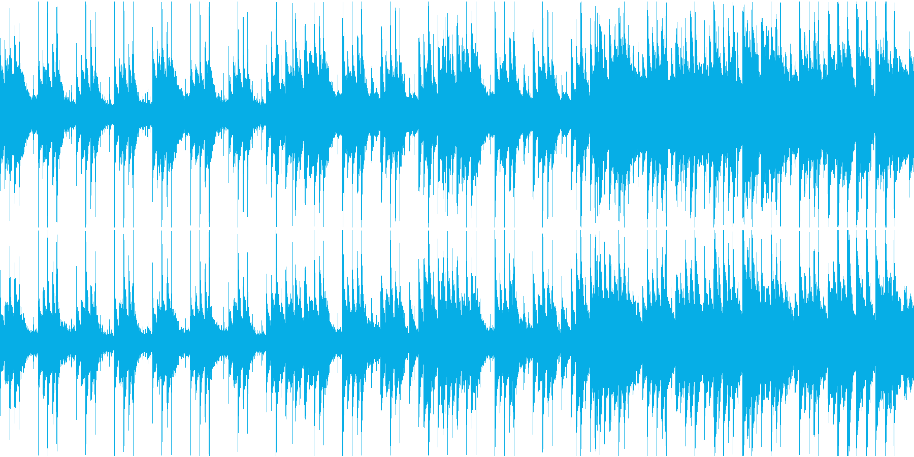 和を感じる幻想的なピアノBGMの再生済みの波形