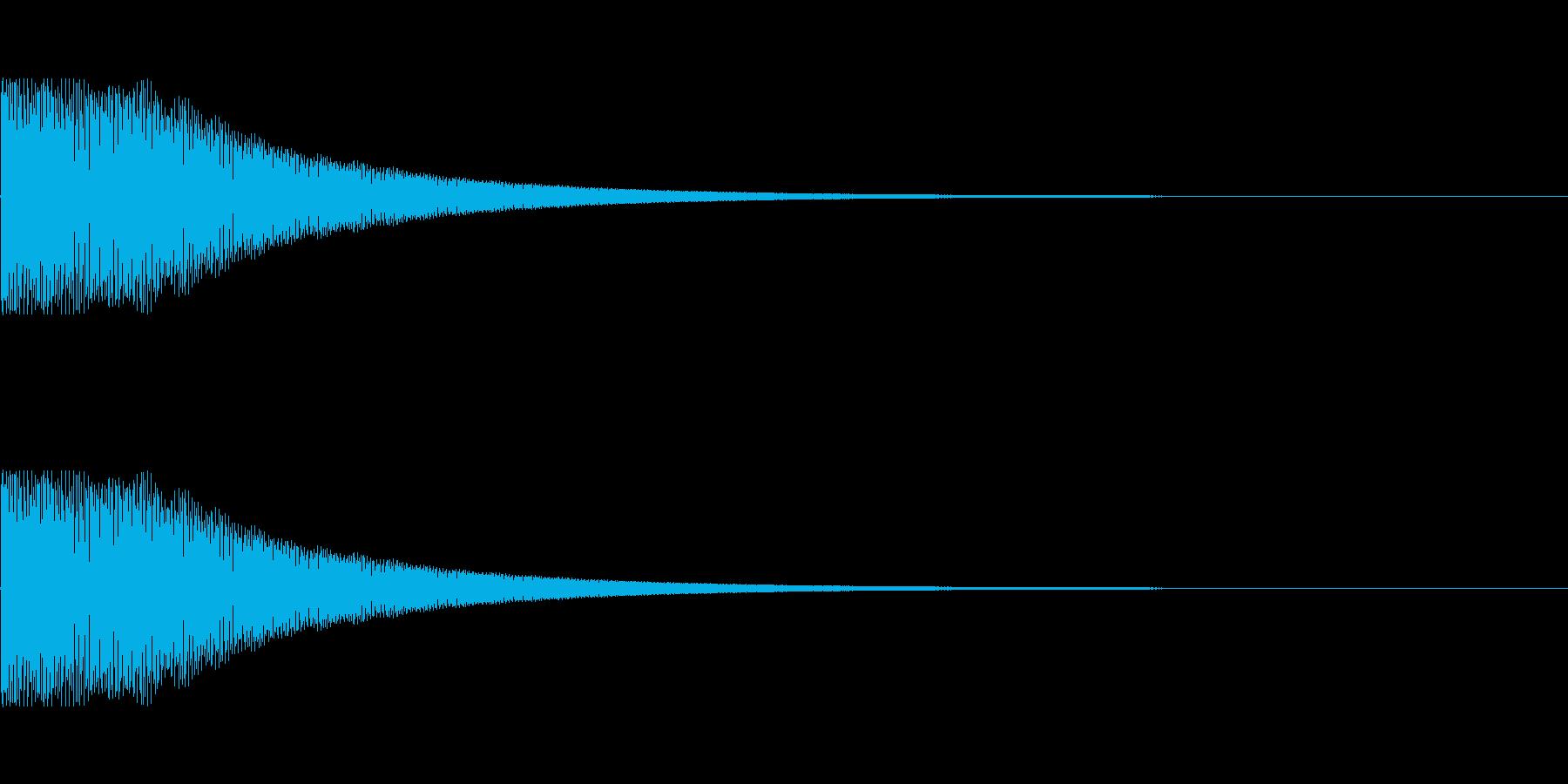 弾む音(キャラクターの移動音などに)の再生済みの波形
