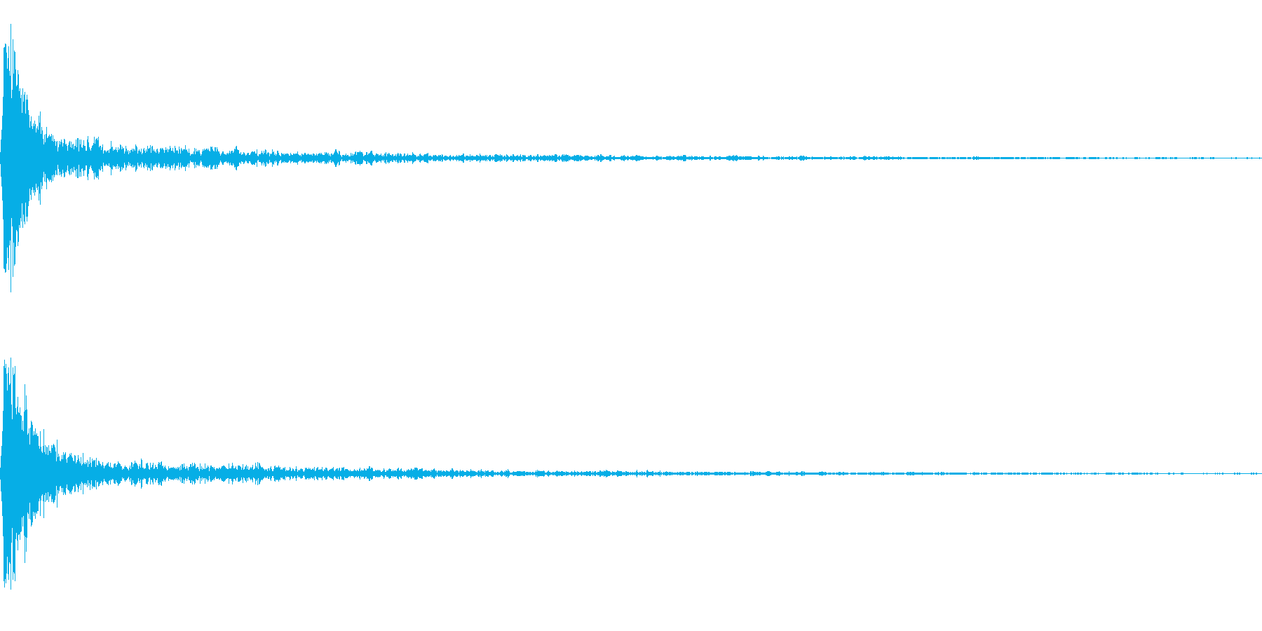がーん(インパクト)の再生済みの波形