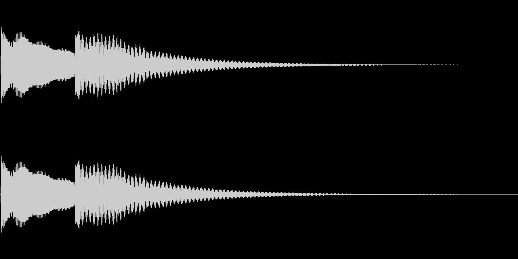 シンプルな正解音の未再生の波形