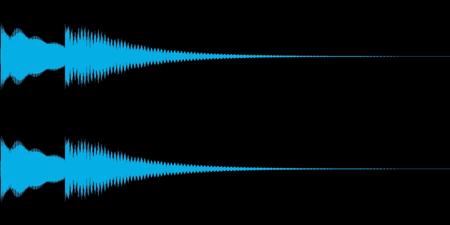 シンプルな正解音の再生済みの波形